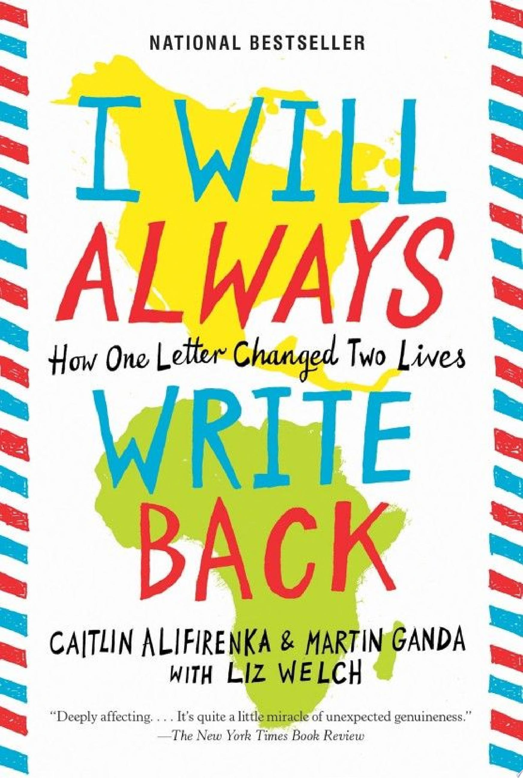 "Image for ""I Will Always Write Back"""