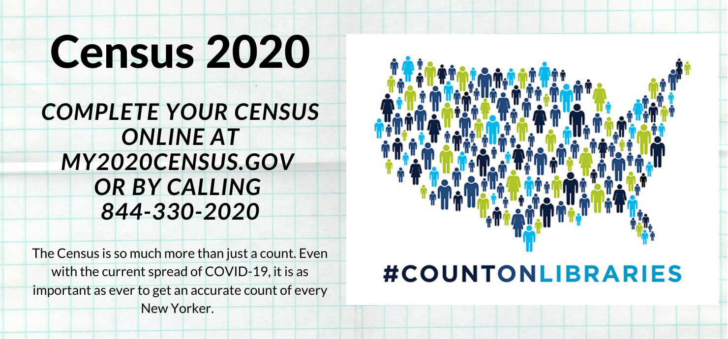 "Slide reading ""census 2020: complete your census online at my2020census.gov"""