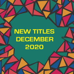 Square graphic with the words: New Titles December 2020