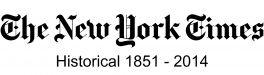 New York Times Historical, 1851-2014