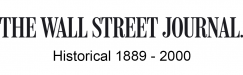 Wall Street Journal Historical, 1889-2000