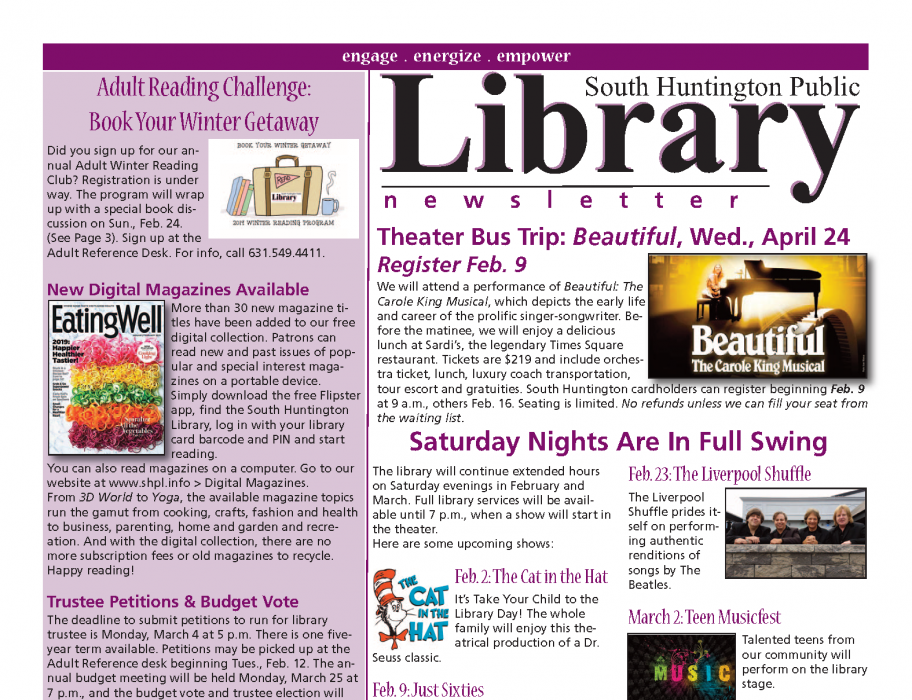 February Newsletter front page thumbnail