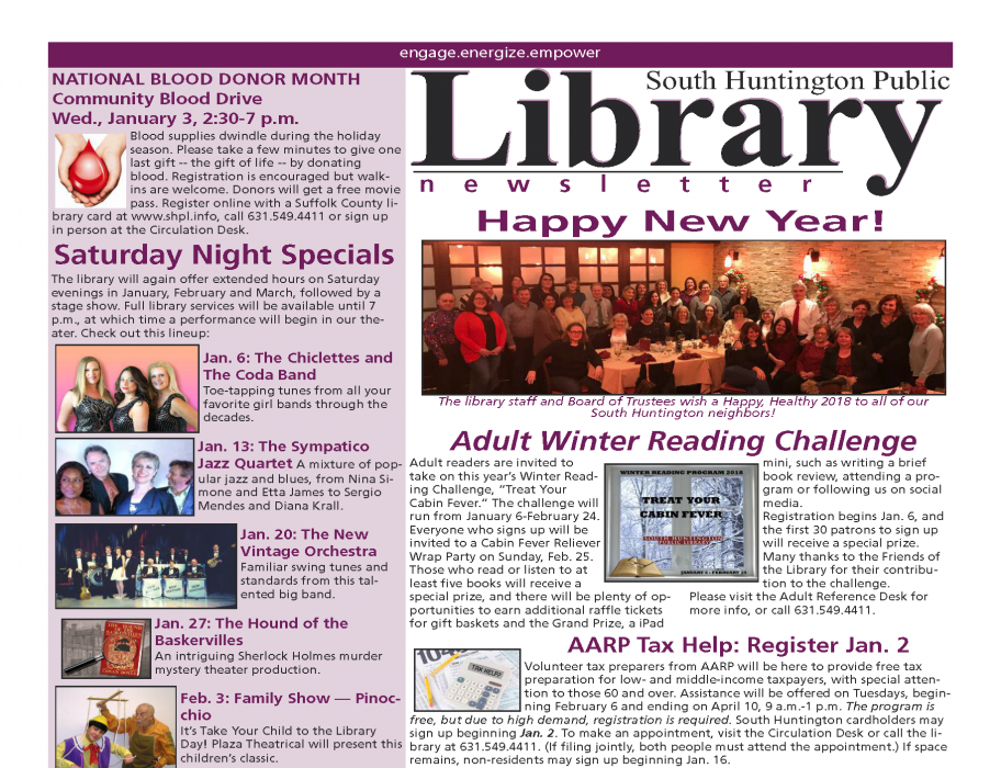 January 2018 newsletter front page thumbnail