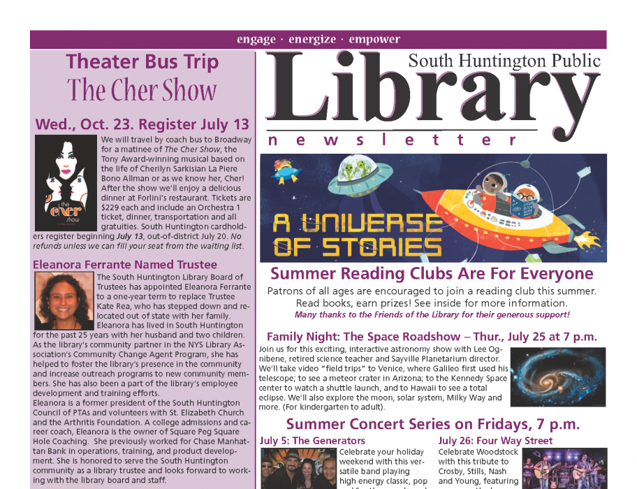 July-August 2019 newsletter front page