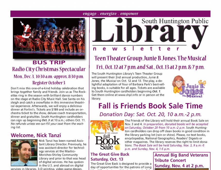 October 2018 newsletter front page thumbnail