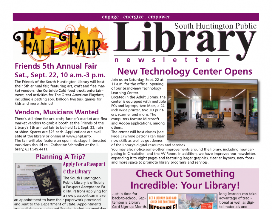 September 2018 newsletter front page thumbnail