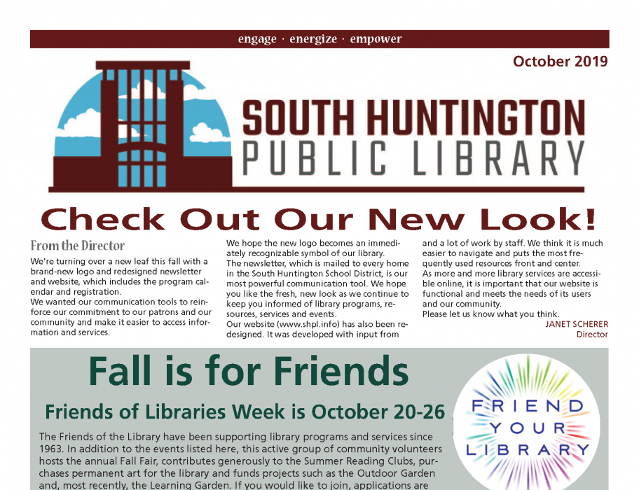 October 2019 Newsletter Picture